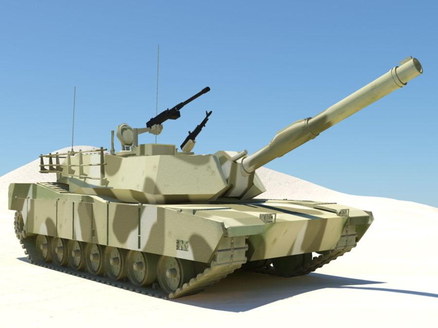 M1A1 TANK royalty-free 3d model - Preview no. 3