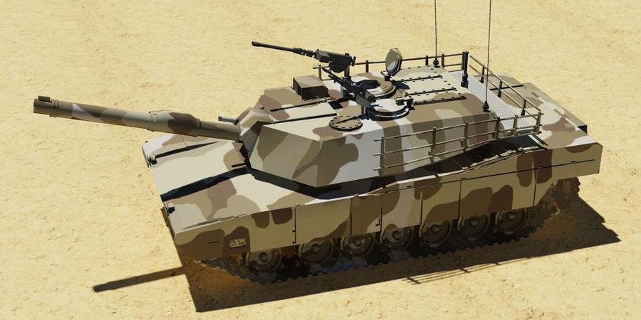 M1A1 TANK royalty-free 3d model - Preview no. 1