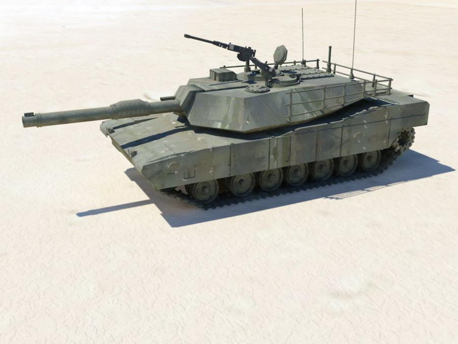M1A1 TANK royalty-free 3d model - Preview no. 4