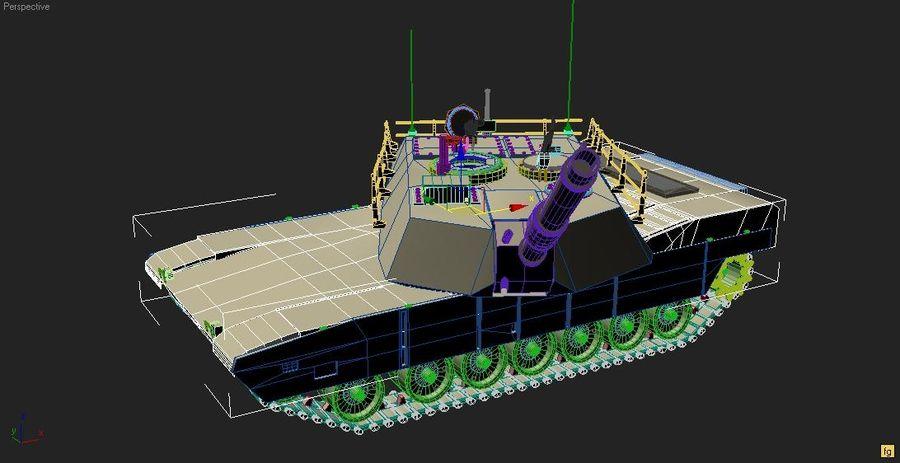 M1A1 TANK royalty-free 3d model - Preview no. 9