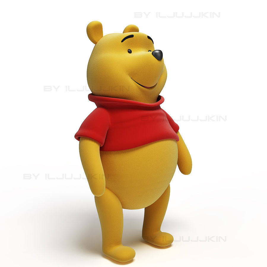 Winnie the Pooh royalty-free 3d model - Preview no. 1
