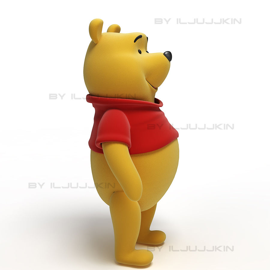 Winnie the Pooh royalty-free 3d model - Preview no. 2
