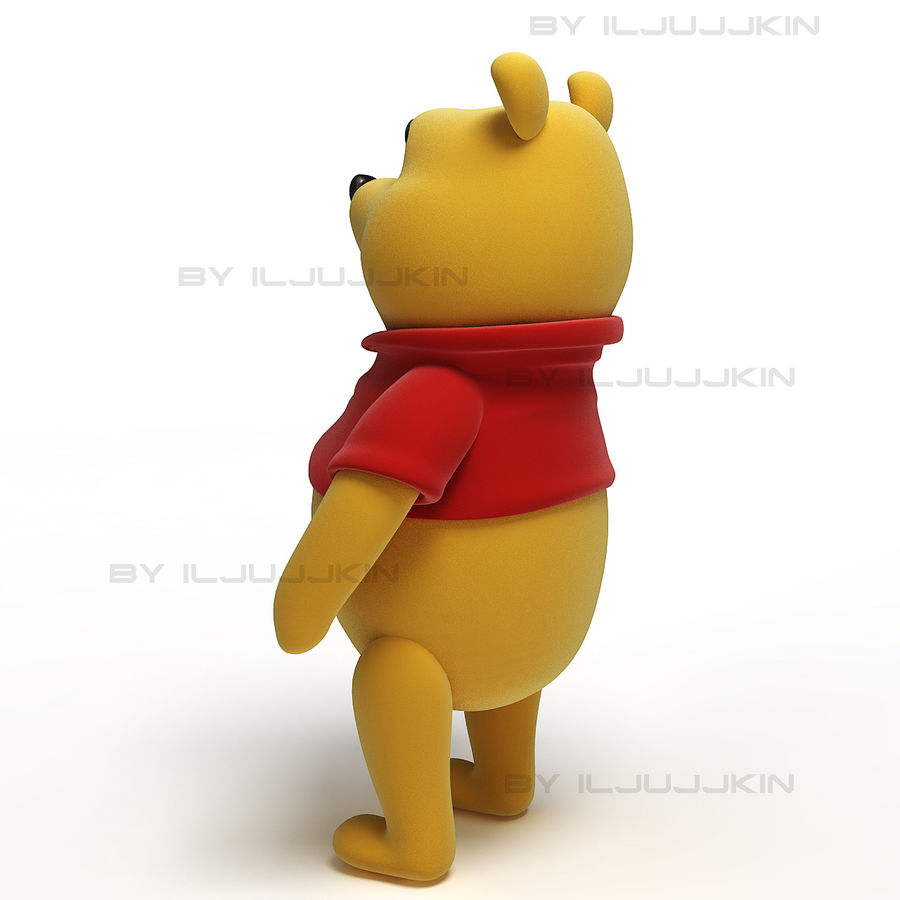 Winnie the Pooh royalty-free 3d model - Preview no. 3