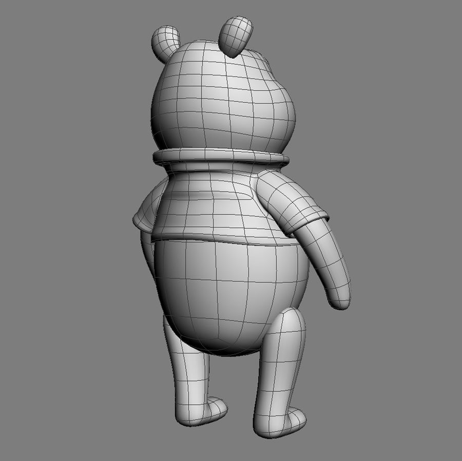 Winnie the Pooh royalty-free 3d model - Preview no. 5