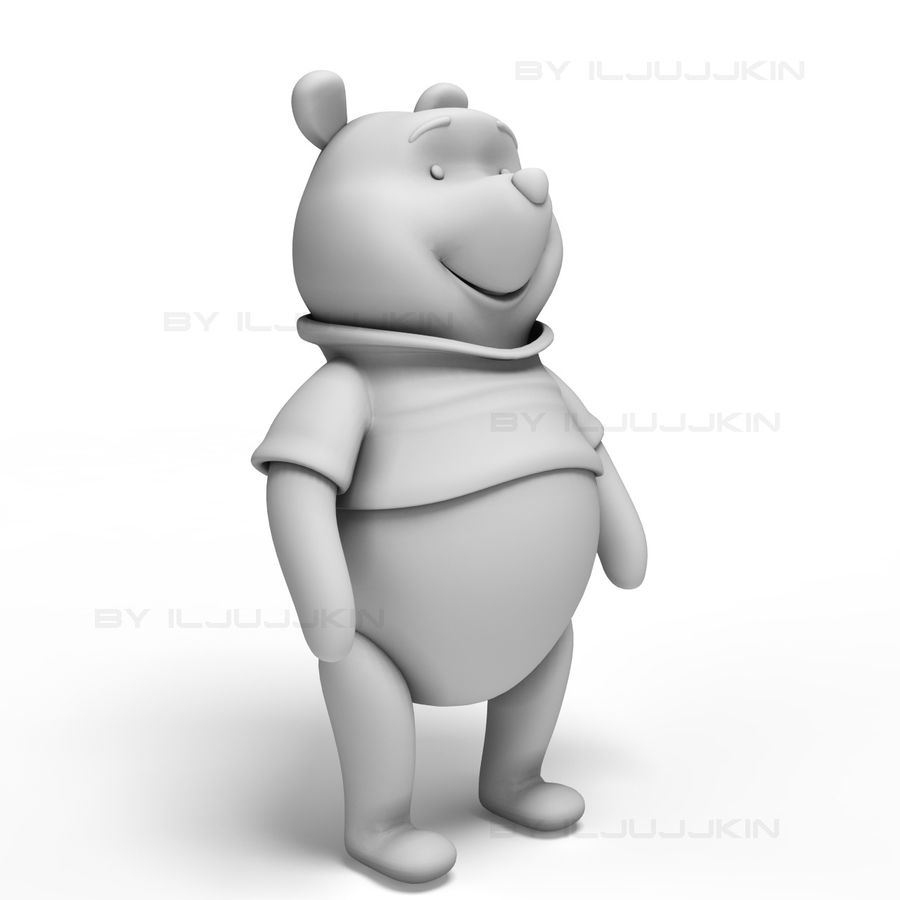 Винни-Пух royalty-free 3d model - Preview no. 6