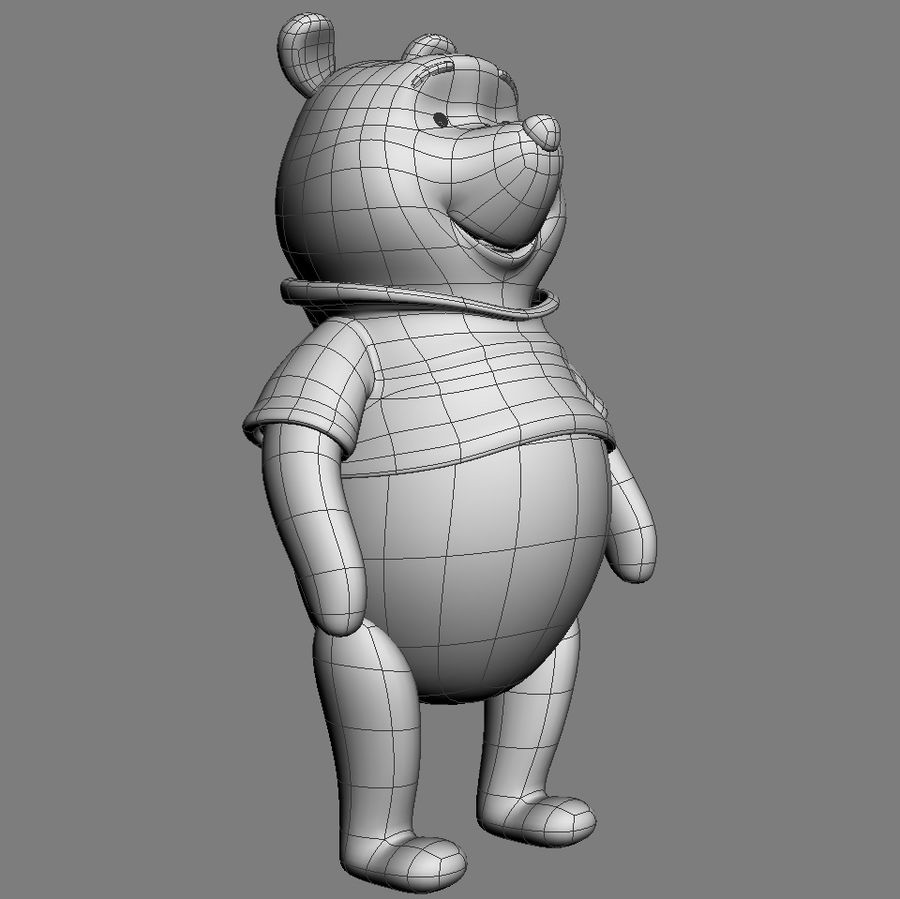 Winnie the Pooh royalty-free 3d model - Preview no. 4