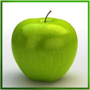 Apple green 3d model