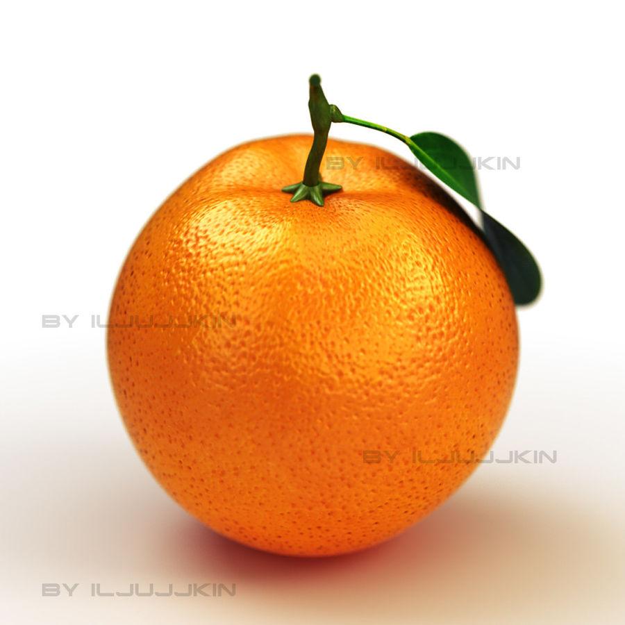 fruta laranja royalty-free 3d model - Preview no. 5