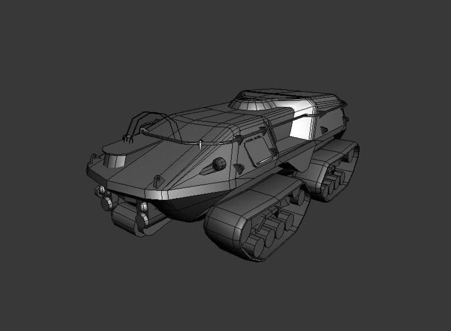 Armored Personnel Carrier royalty-free 3d model - Preview no. 1