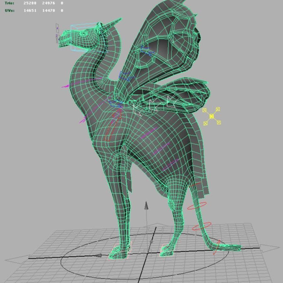 Dragon royalty-free 3d model - Preview no. 10