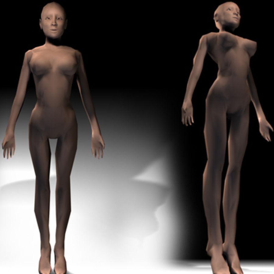 Low Poly Female 3D Model $2 -  3ds  obj - Free3D