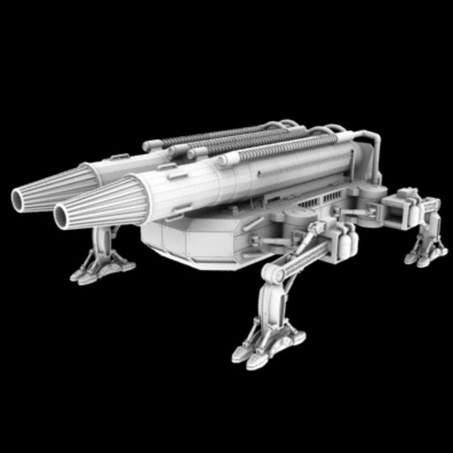 未来砲兵 royalty-free 3d model - Preview no. 2