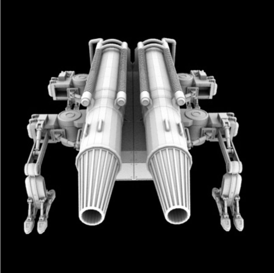 未来砲兵 royalty-free 3d model - Preview no. 4
