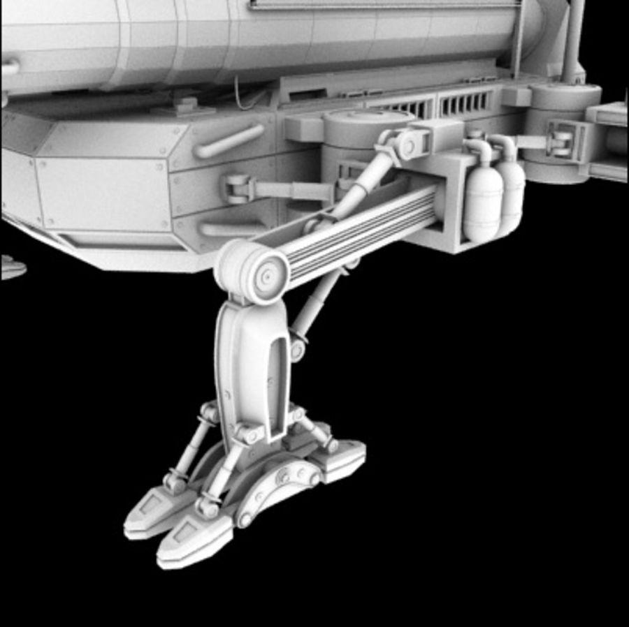 未来砲兵 royalty-free 3d model - Preview no. 3