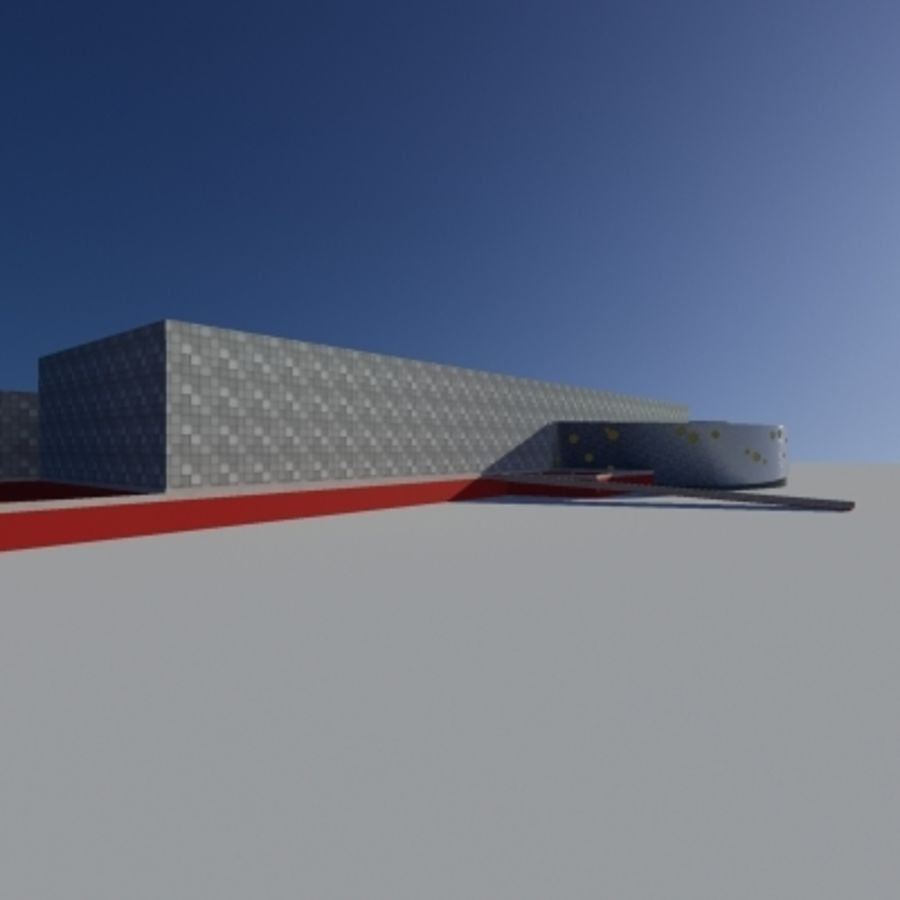Торговый центр royalty-free 3d model - Preview no. 6