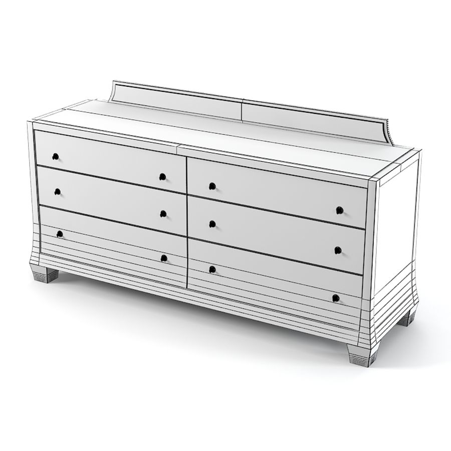 Barbara Barry Reflection Dresser Commode royalty-free 3d model - Preview no. 4