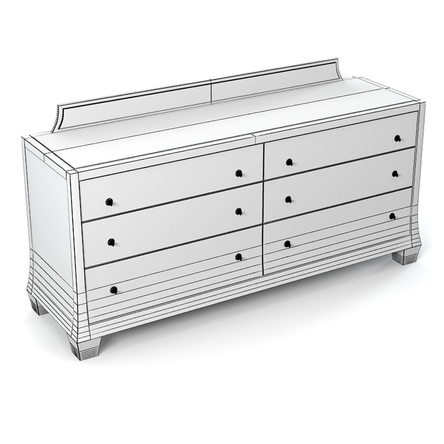 Barbara Barry Reflection Dresser Commode royalty-free 3d model - Preview no. 5