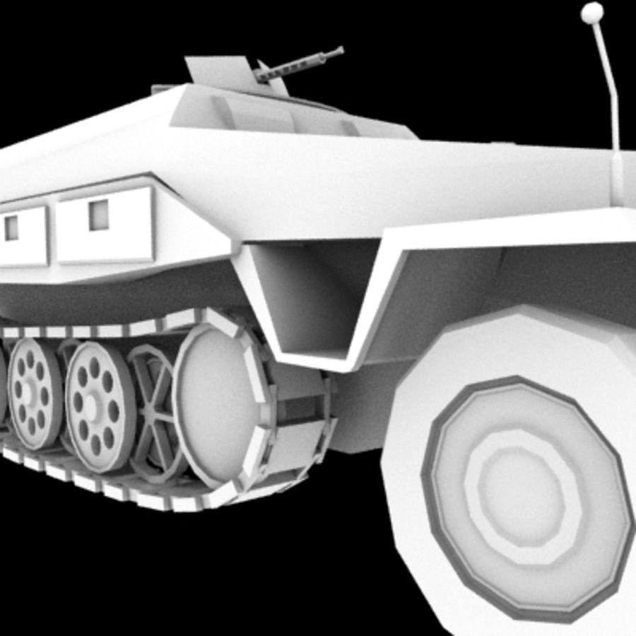 Panzerspahwagen royalty-free 3d model - Preview no. 9