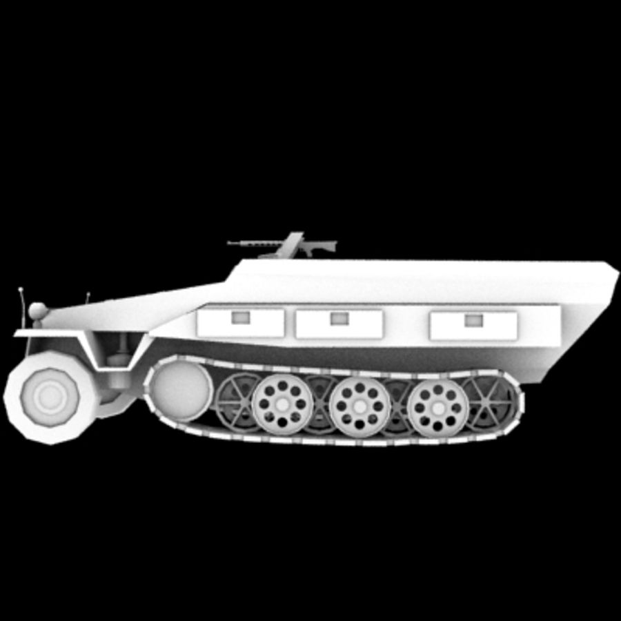 Panzerspahwagen royalty-free 3d model - Preview no. 3