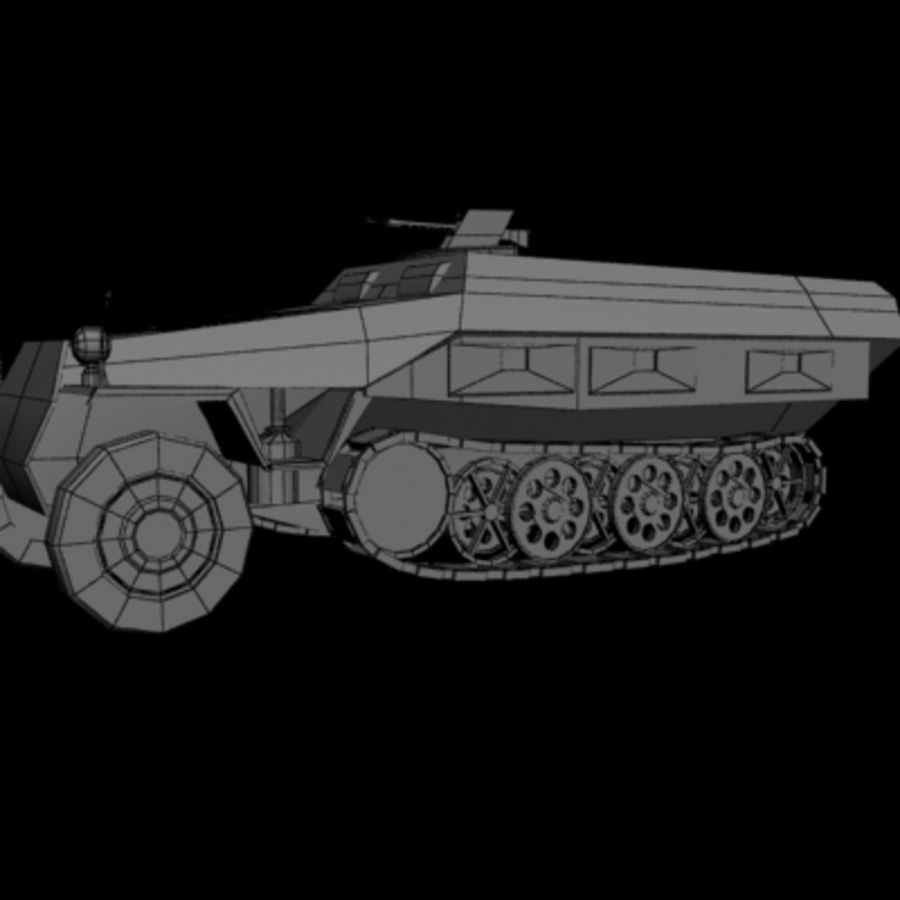 Panzerspahwagen royalty-free 3d model - Preview no. 7