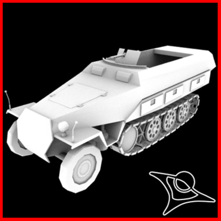 Panzerspahwagen royalty-free 3d model - Preview no. 1