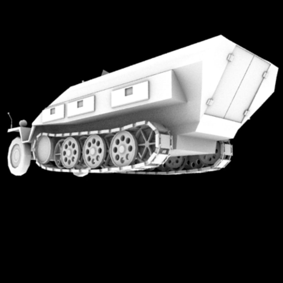 Panzerspahwagen royalty-free 3d model - Preview no. 2