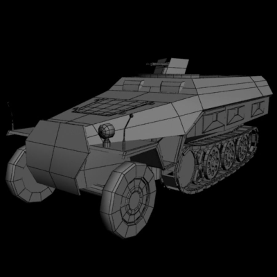 Panzerspahwagen royalty-free 3d model - Preview no. 6