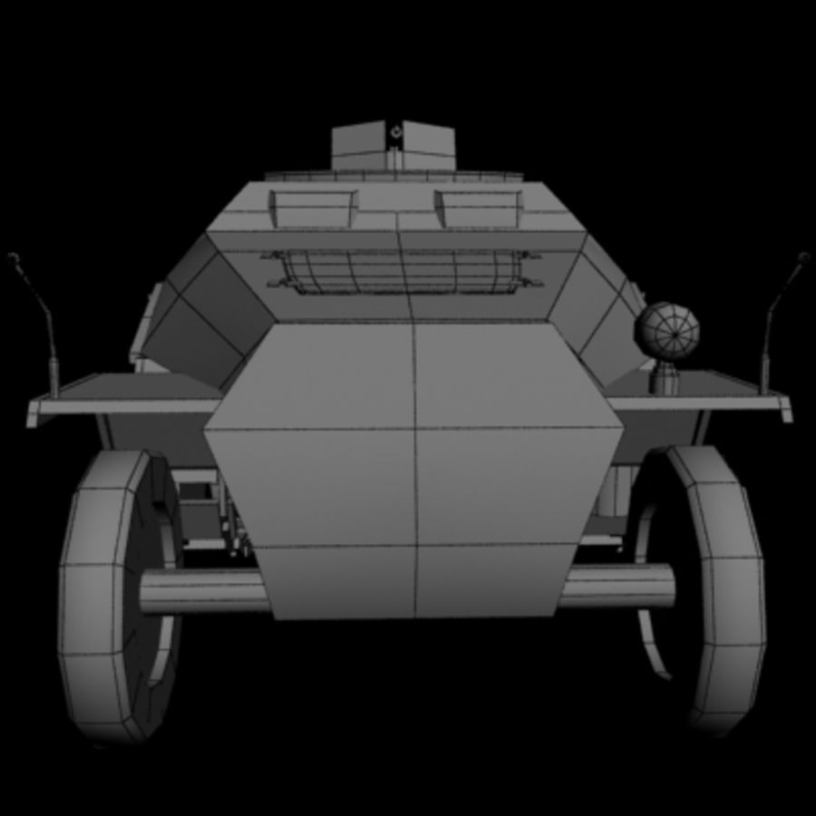 Panzerspahwagen royalty-free 3d model - Preview no. 8