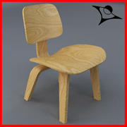 Sedia di design in legno 3d model