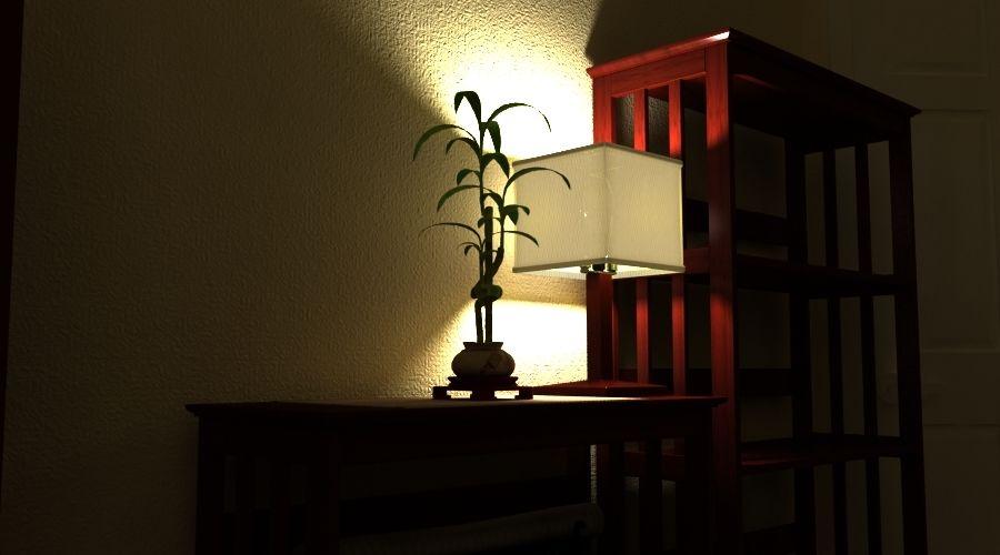 Planta de bambu royalty-free 3d model - Preview no. 3