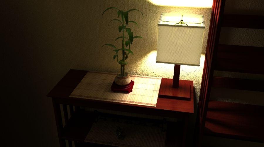 Planta de bambu royalty-free 3d model - Preview no. 2