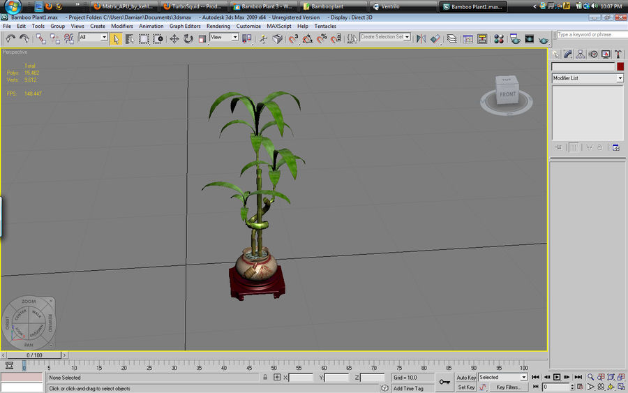 Planta de bambu royalty-free 3d model - Preview no. 5