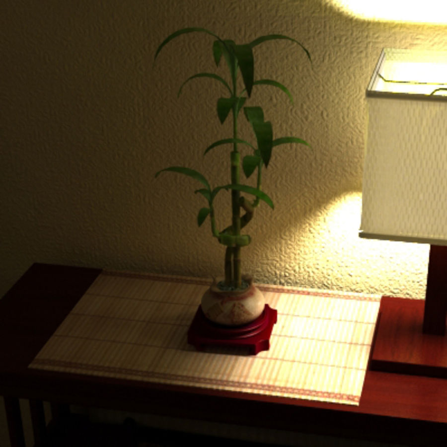 Planta de bambu royalty-free 3d model - Preview no. 6