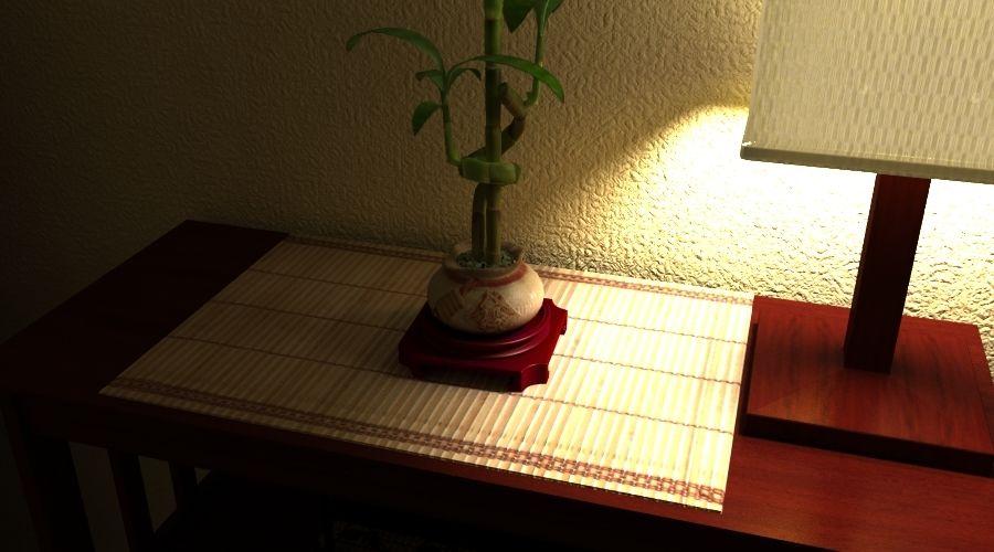 Planta de bambu royalty-free 3d model - Preview no. 4