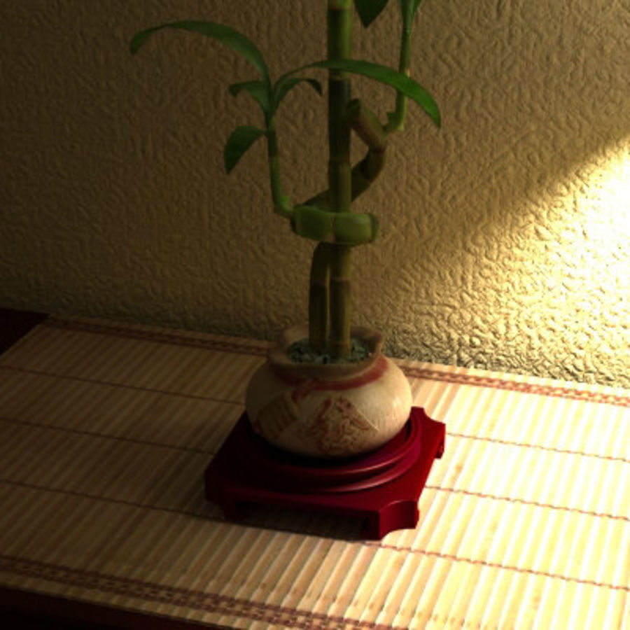 Planta de bambu royalty-free 3d model - Preview no. 1