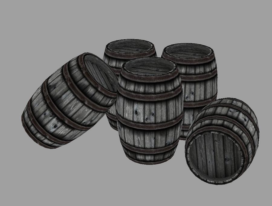 Barrel royalty-free 3d model - Preview no. 2