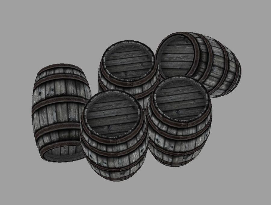 Barrel royalty-free 3d model - Preview no. 3