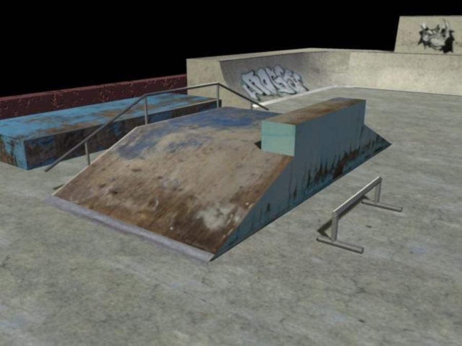 Скейт-парк royalty-free 3d model - Preview no. 10