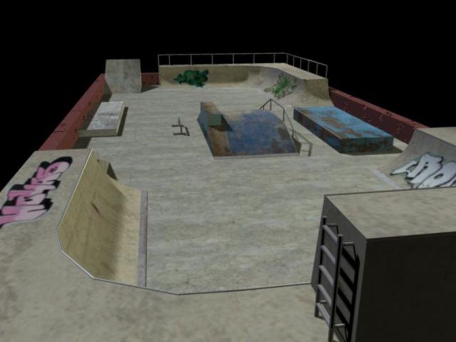 Скейт-парк royalty-free 3d model - Preview no. 5
