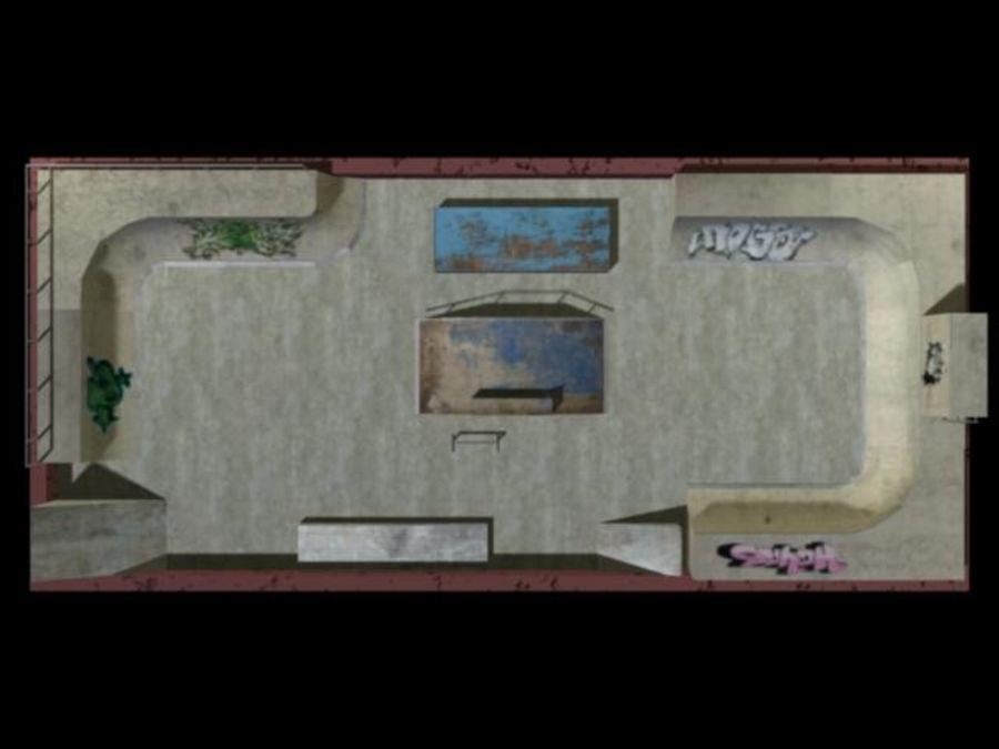 Скейт-парк royalty-free 3d model - Preview no. 14