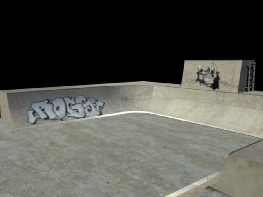 Скейт-парк royalty-free 3d model - Preview no. 7