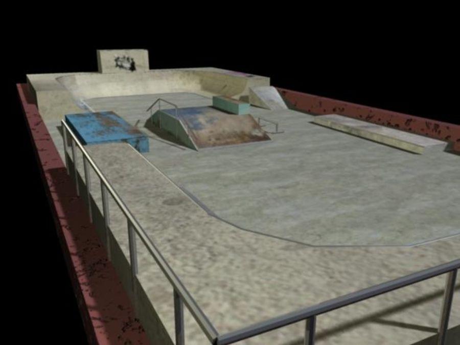 Скейт-парк royalty-free 3d model - Preview no. 4