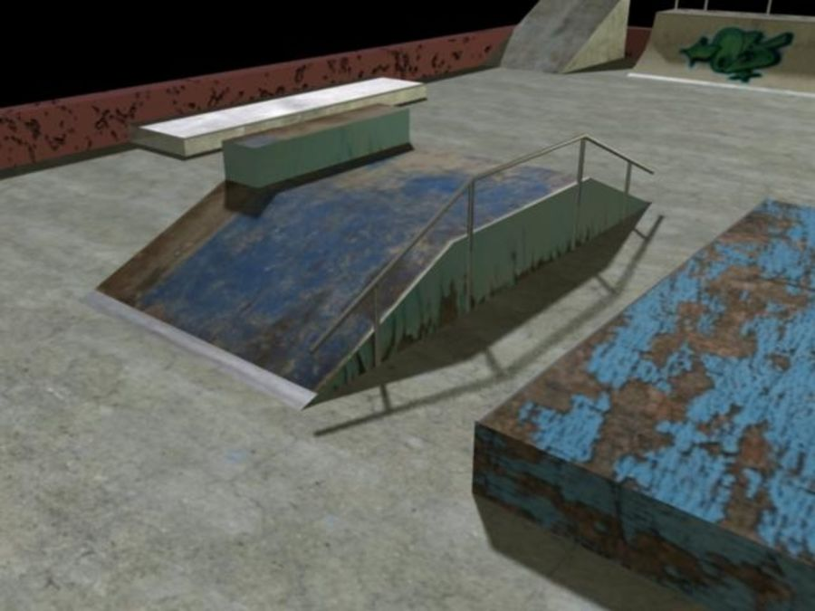 Скейт-парк royalty-free 3d model - Preview no. 11
