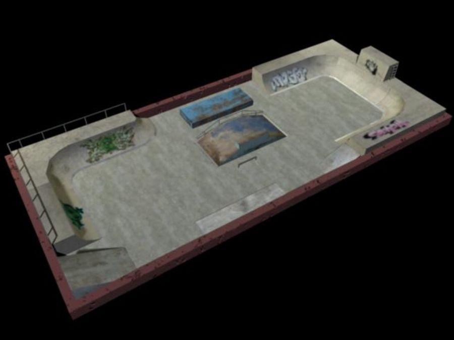 Скейт-парк royalty-free 3d model - Preview no. 2