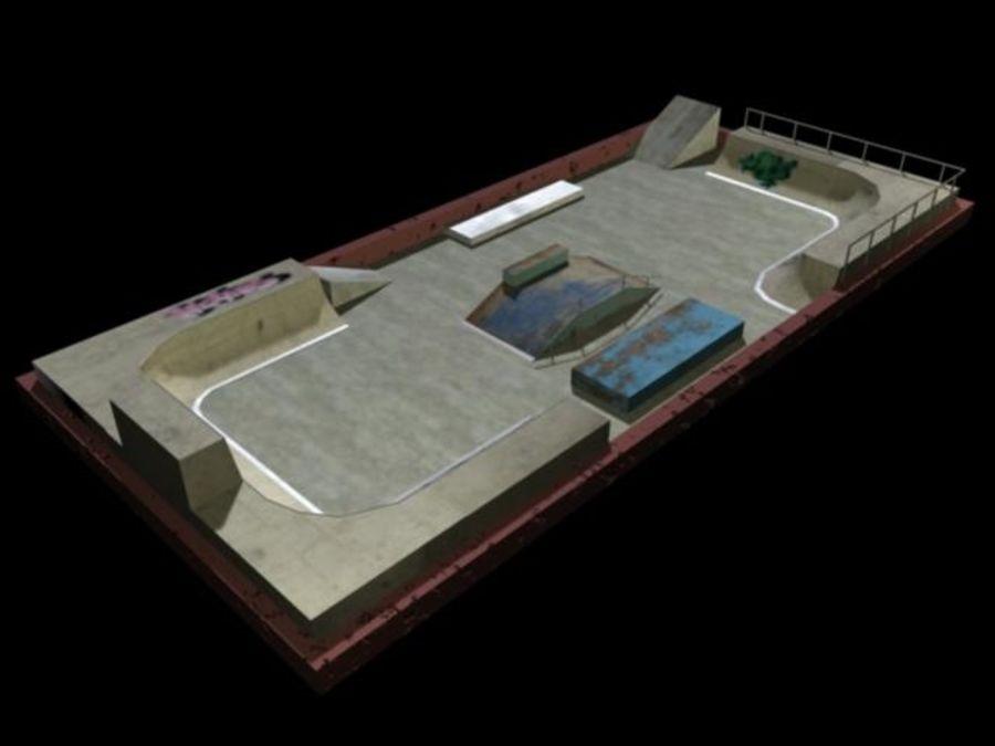 Скейт-парк royalty-free 3d model - Preview no. 3