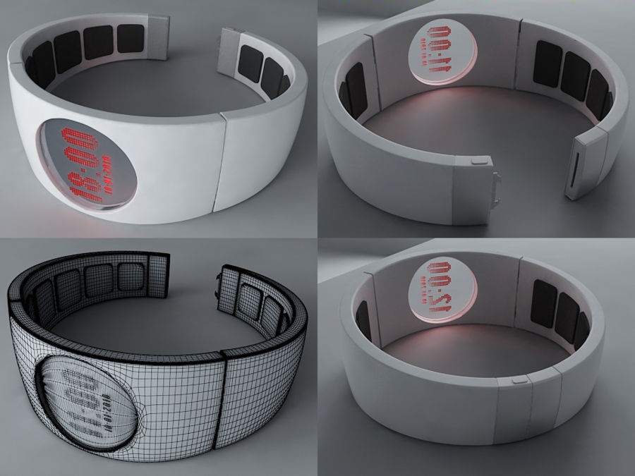 Concept Watch royalty-free 3d model - Preview no. 1