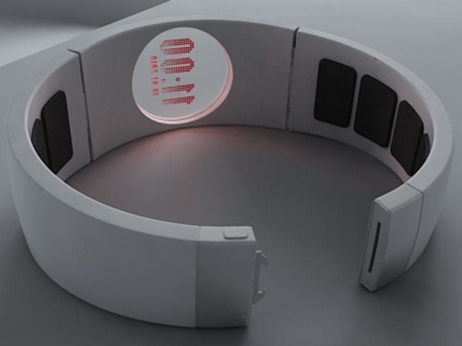 Concept Watch royalty-free 3d model - Preview no. 6