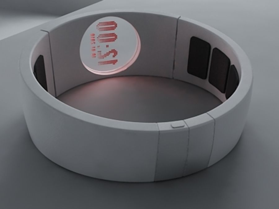 Concept Watch royalty-free 3d model - Preview no. 7