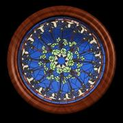 WD Round Leaves Window 3d model