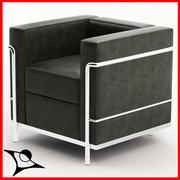 Le Corbusier LC2 3d model